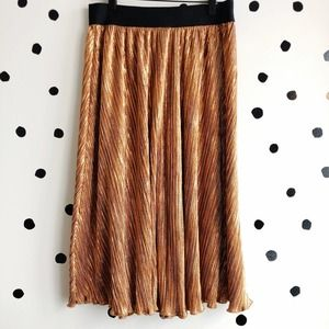 LuLaRoe Elegant Jill Copper Skirt Small